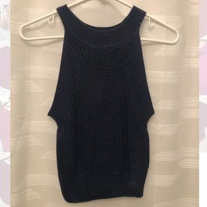 Navy Knit Tank Top